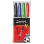 Sharpie Fine Permanent Marker 4 Pack