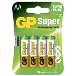 GP Batteri Super 15AE-2U4 / LR6 / AA 4-pack Blister