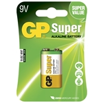 GP Batteri Super 1604A-5U1 / 6LF22 / 9V Blister 1pkt